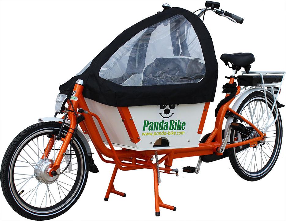 greenbike pesaro-pandabike-Saetta con cappottina pioggia