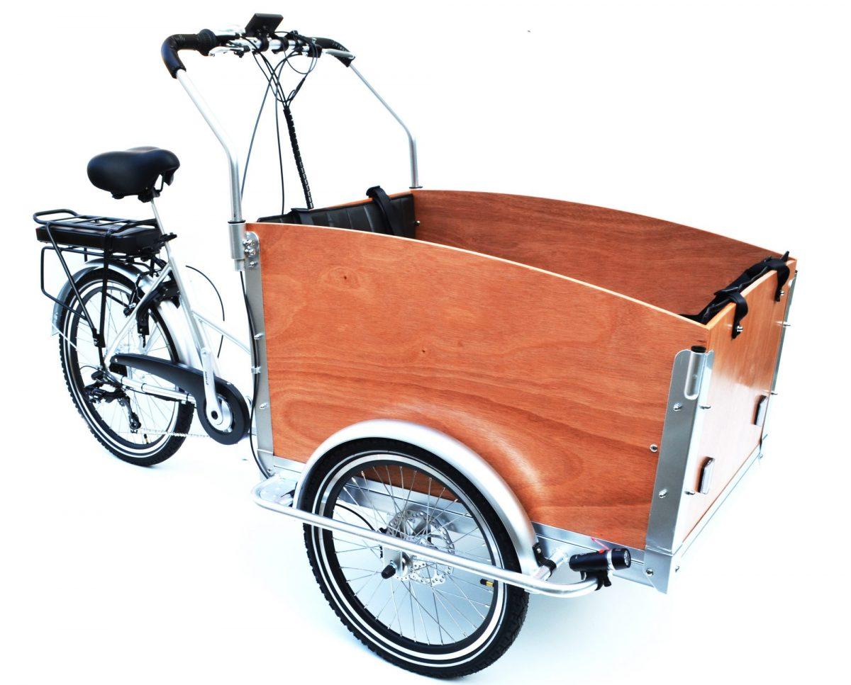 greenbike pesaro-cargo bike elettriche-Pandabike-Minivan 3 ruote e cassone