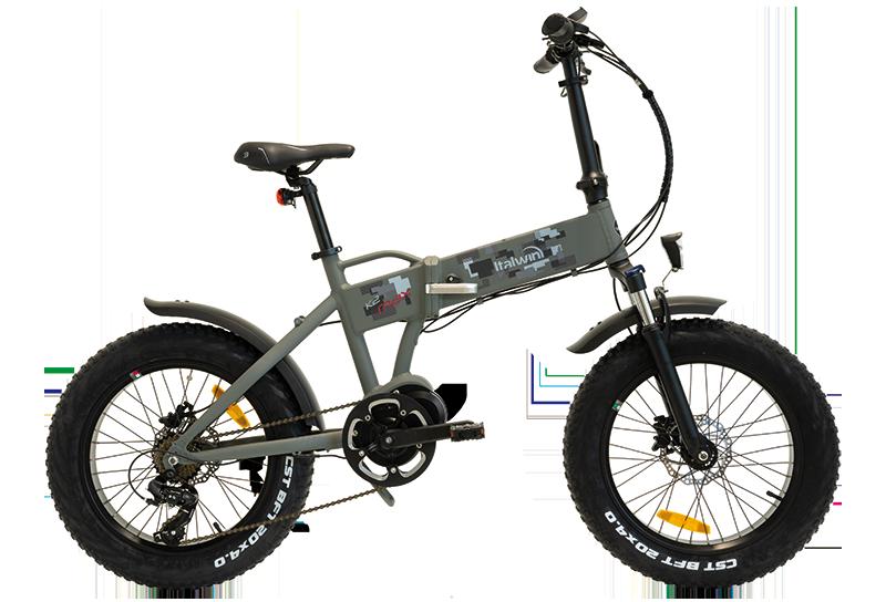 "greenbike pesaro-bici elettriche fat-bici pieghevoli 20""-Italwin- K2 MAX"