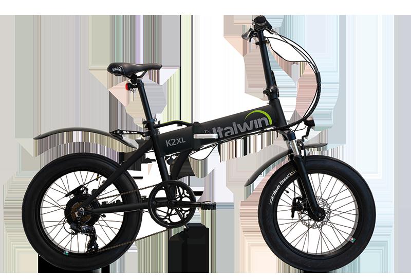 greenbike pesaro-bici elettriche pieghevoli 20-italwin-K2 XL