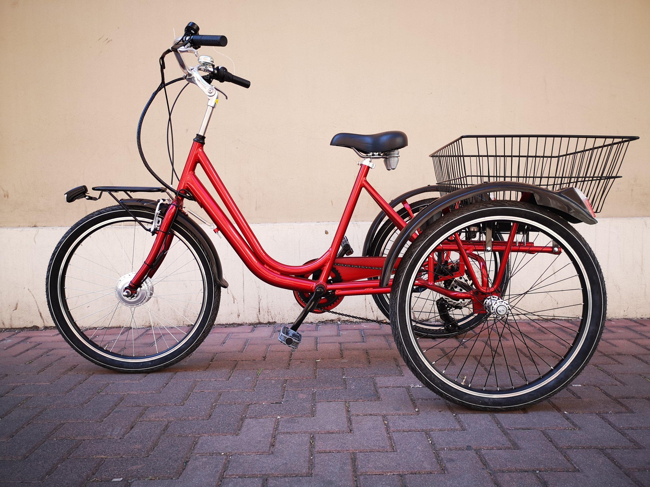 "Greenbike pesaro-Casadei-bici a tre ruote elettriche-Tricicletta 24"""
